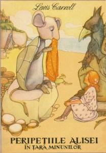""",,Peripeţiile Alisei în Ţara Minunilor"""", Romanian translation of Carroll's book by Frida Papadache (Editura Tineretului, 1965). Illustrations by Mabel Lucie Attwell"""