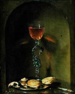 """""""Still Life with Bread and Wine Glass"""" by Isaac Luttichuys (17th c.)"""