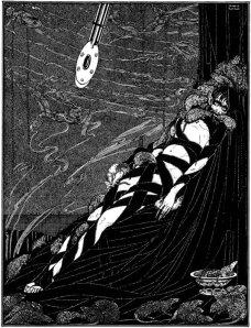 "Illustration for E.A. Poe's ""The Pit and the Pendulum"" by Harry Clarke (1919)."