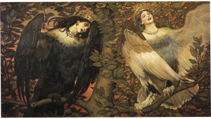 """Sirin and Alkonost, the Birds of Joy and Sorrow"" by Viktor Vasnetsov (1896)"
